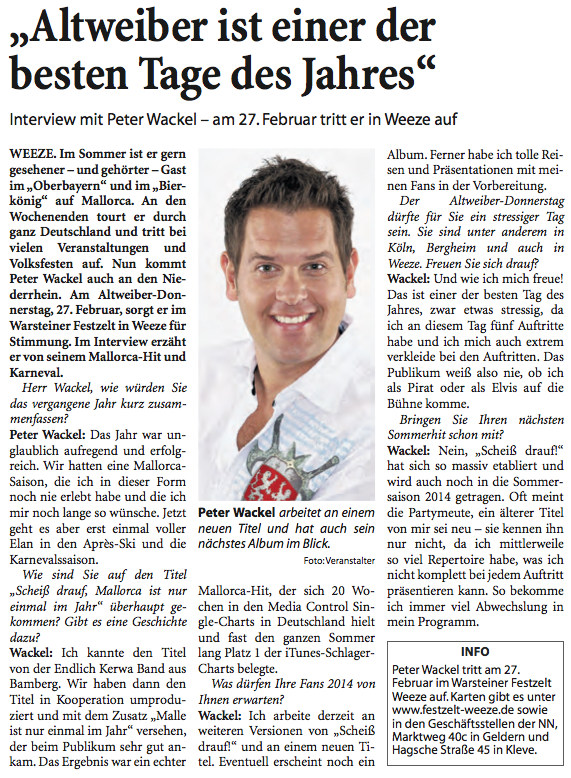 NN vom 04-01-2014 Interview Peter Wackel